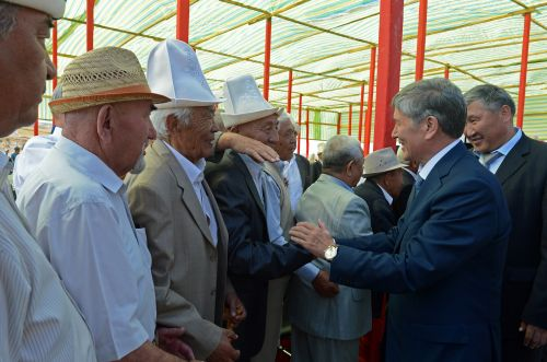 """...Президент Кыргызской Республики Алмазбек Атамбаев принял участие в церемонии открытия подстанции 500 кВ  """"Датка """" в..."""