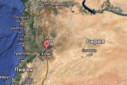 Хомс на западе Сирии