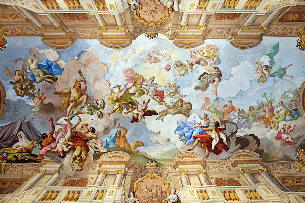 Ceiling_painting_of_the_Marble_Hall_-_Melk_Abbey_-_Austria