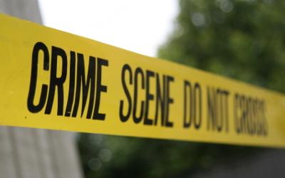 crime scene strip-police
