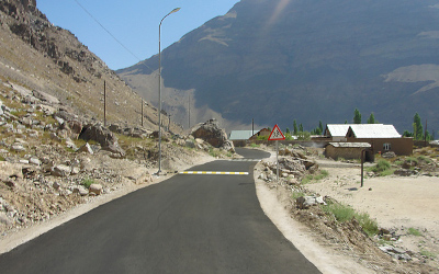 road in Khorog