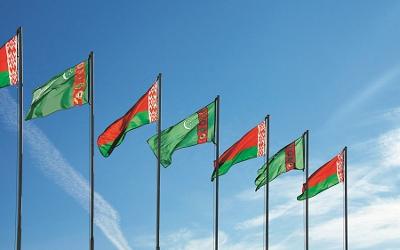 Turkmenistan-Belarus flags