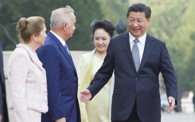Karimov in China new
