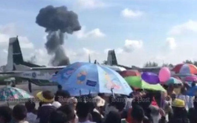 Gripen jet crashes during air show in Thailand, pilot killed