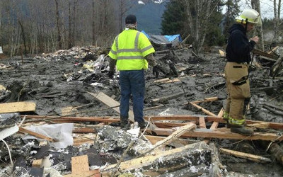 landslide in U.S.