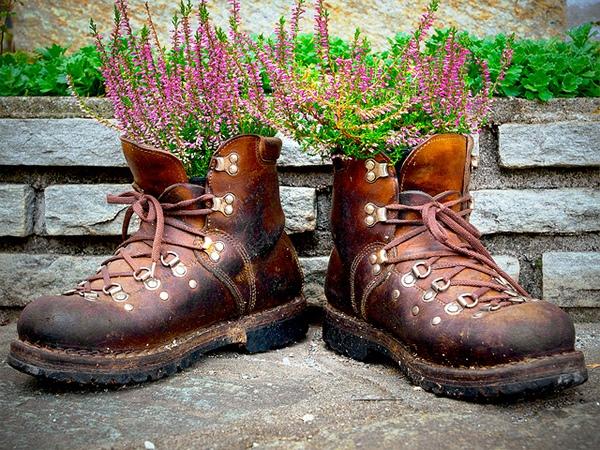 Все своими руками для сада ботинки