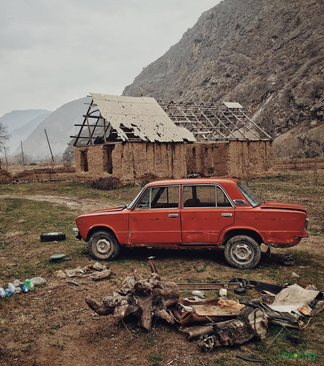 Поиск натуры для кино. Баткенская область, село Майдан