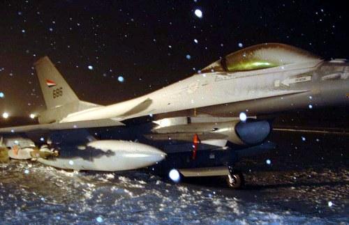 Совершил аварийную посадку истребитель ВВС Норвегии F-16 Falcon