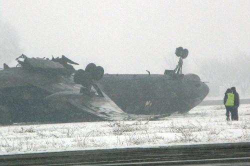 Самолет Ту-134 разбился при посадке