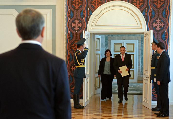 Посол Словении в Кыргызстане Примож Шелиго