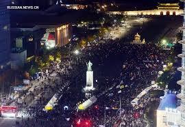В Сеуле на митинг за отставку президента Пак Кын Хе вышли десятки тысяч человек