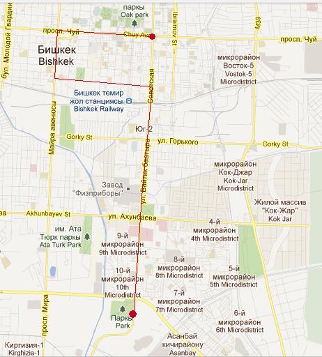 Карта маршрута веломарша 24