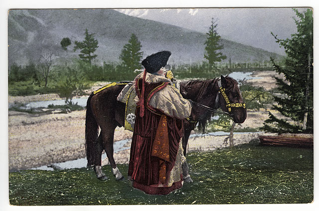 Altay_woman_with_horse