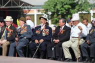 The leadership of Kyrgyzstan, World War II veterans attended the event.