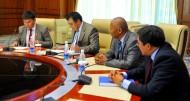 The delegation of Kyrgyzstan was led by Vice Prime Minister Abdyrakhman Mamataliyev. The delegation of Tajikistan was led by Vice Prime Minister of Tajikistan Murodali Alimardon.