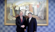 Minister of Foreign Affairs of Kyrgyzstan Erlan Abdyldayev met with President of Latvia Andris Bērziņš on December 18, 2014 in the framework of the official visit to the Baltic country.<br /> <br /> The sides highlighted that the Kyrgyz-Latvian relations have always developed on the principles of respect and understanding. Minister Abdyldayev added that Kyrgyzstan is interested in comprehensive cooperation with Latvia, and all necessary preconditions for its intensification exist.