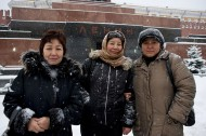 Migrants from Kyrgyzstan on Red Square, 31 December 2010<br />
