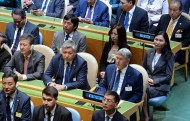 President of Kyrgyzstan Almazbek Atambayev took part in the 72nd UN General Assembly in New York on September 19, the president's office said.<br />