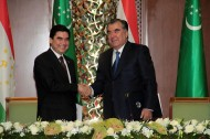 The heads of state have emphasized role of the Tajik-Turkmen high level dialogue, which provides a solid basis for further expansion of bilateral relations in various fields of political, trade, economic, scientific-technical, humanitarian and cultural cooperation, according to a joint statement adopted by the presidents at the end of the meeting.