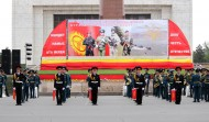 The parade of the military units of Bishkek Garrison took place at Ala-Too square on May 29 in Bishkek on occasion of the 22nd anniversary of establishment of the Armed Forces of Kyrgyzstan.