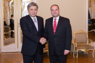 A meeting with the Deputy Speaker of the Saeima (Parliament) of Latvia, Gundars Daudze took place on the same day.