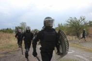 """Special forces of Kyrgyzstan <a href=""""http://akipress.com/news:582906/"""">were trained</a> on September 27, 2016 in suppression of riots by prisoners.<br /> <br /> During the drills, soldiers used stun grenades and shields to stop the conventional prisoners who had rioted and tried to escape."""