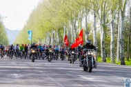 The ride was started at 9.30 am near the All-Union Exhibition of Achievements of National Economy and finished in the Victory Park named after Dair Asanov.