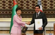 In addition, the sides promised to work together to develop substantive cooperation in the fields of agriculture, transportation, architecture, and science and technology, as well as education.<br /> <br /> They also agreed to closely cooperate on the successful hosting of the 5th Asian Indoor and Martial Arts Games, set to open in Turkmenistan in 2017.