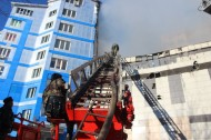 Currently, some small fires are being extinguished, said the press service of the Ministry of Emergency Situations.
