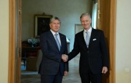 Atambayev was received by the King Philippe of Belgium