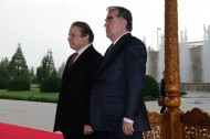 President of Tajikistan Emomali Rahmon and Prime Minister of Pakistan Nawaz Sharif, who arrived in Dushanbe on an official visit on 17 June 2014, held talks.