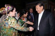 On September 12, the Chinese President and his spouse attended the reception hosted by President of Tajikistan Rahmon and his family.