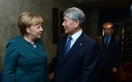 President Atambayev and German Chancellor Argela Merkel
