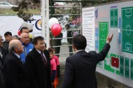 The field at the Football Center of the Football Federation of the Kyrgyz Republic was opened with FIFA financing as part of the Goal III Project.