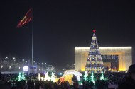 The ceremony of lighting the main Christmas tree of Bishkek took place on December 19 in the Ala-Too square.