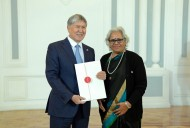President Almazbek Atambayev and Ambassador of India Ms. Savithri Lakshmanan