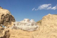 Archaeological excavation of the Central Asia's biggest Buddha statue completed in Chui region of Kyrgyzstan.