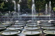1979, the fountain of 12 bowls located in the Oak Park.