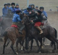 The Kok Boru tournament on occasion of the Nooruz holiday is held in Bishkek at the Ak Kul horse race track from March 16-21.<br />