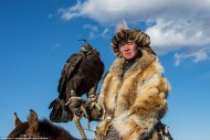 The competitions during the Golden Eagle Festival show the long-term and trusting relationship between the eagle and the hunter.