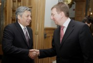 The sides discussed bilateral cooperation between Latvia and Kyrgyzstan, developments in Central Asia and Afghanistan, and expressed interest in a continued political dialogue.