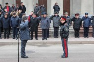 The parade of all police forces of Bishkek took place on March 14 in Bishkek.