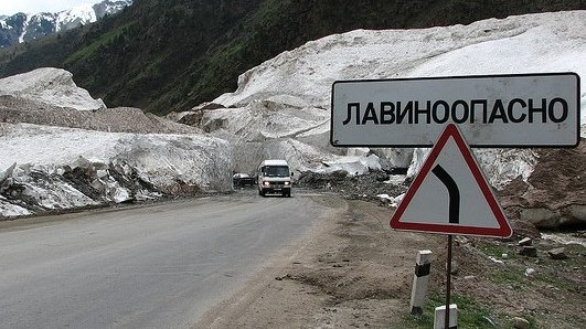 МЧС просит водителей неехать подороге Бишкек— Ош. Спуск снежных лавин!