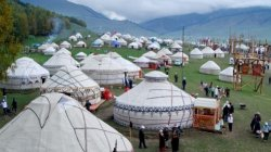 Игры кочевников: В ущелье Кырчын открылся этногородок Бишкека <i>(фото)</i>