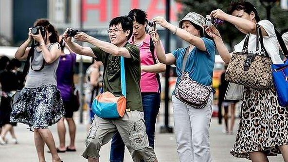 фото туристов китай
