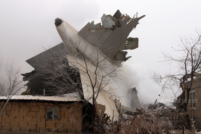 Photos from Turkish Airlines cargo plane Boeing 747 crash scene Bishkek Kyrgyzstan / Photo: Azamat Imanaliev