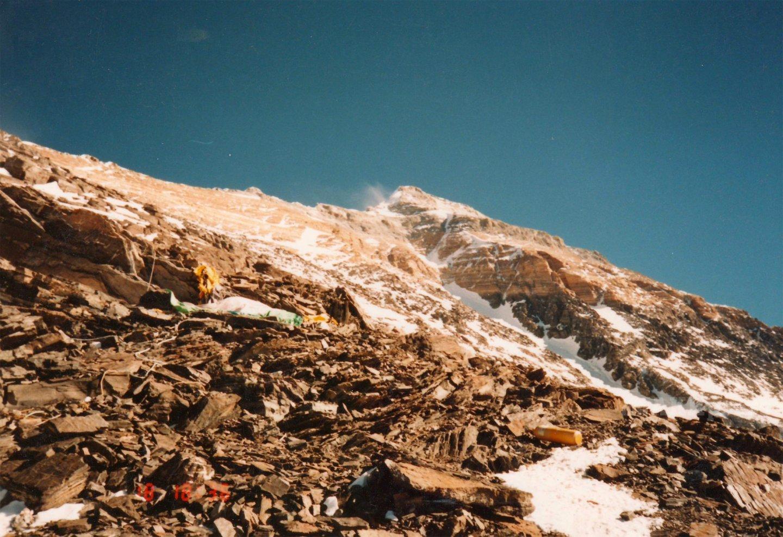 Вид на вершину с лагеря 3 / Фото: Дмитрий Греков