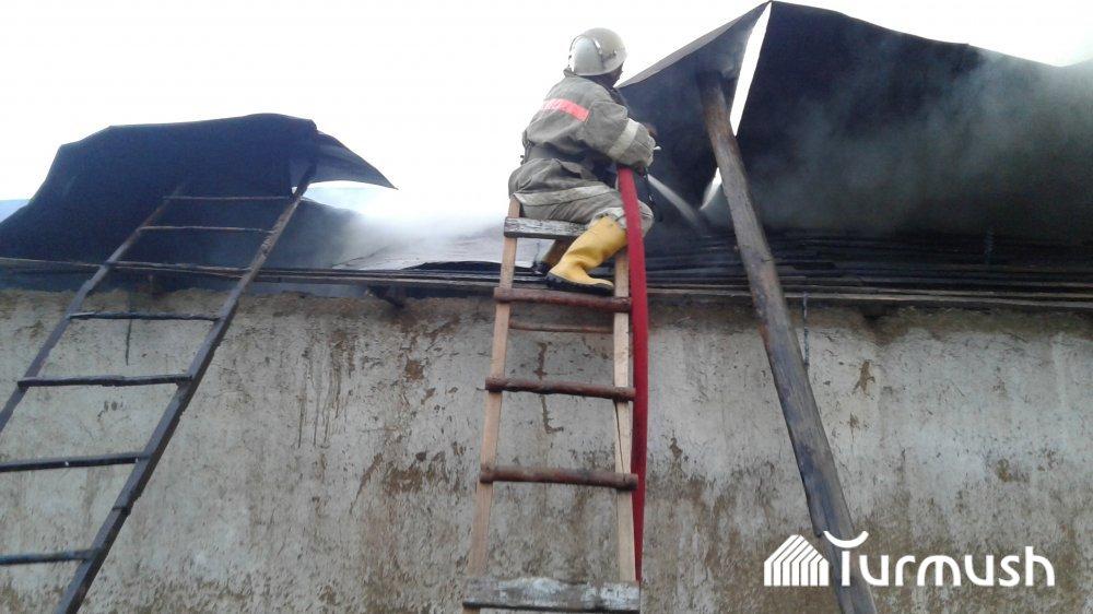 ВКасимовском районе сгорел деревянный дом