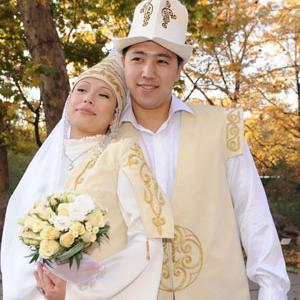 Свадебное платье в национальном/европейском стиле. .  Limon.KG.