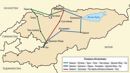 Таджикистан, Китай) и